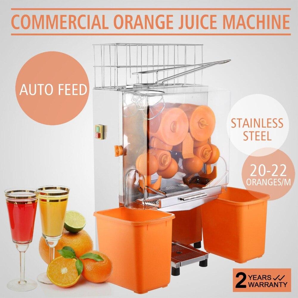 Máquina Exprimidora De Frutas Y Naranjas De Acero Inoxidable Doméstico Y Comercial Y Plástico Pc De 120 W