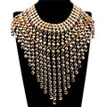 Surper Exageradas As Mulheres Do Partido Acessórios de Moda Ouro Prata Liga Bolha Chains Borlas Pingentes Colares Declaração Do Vintage