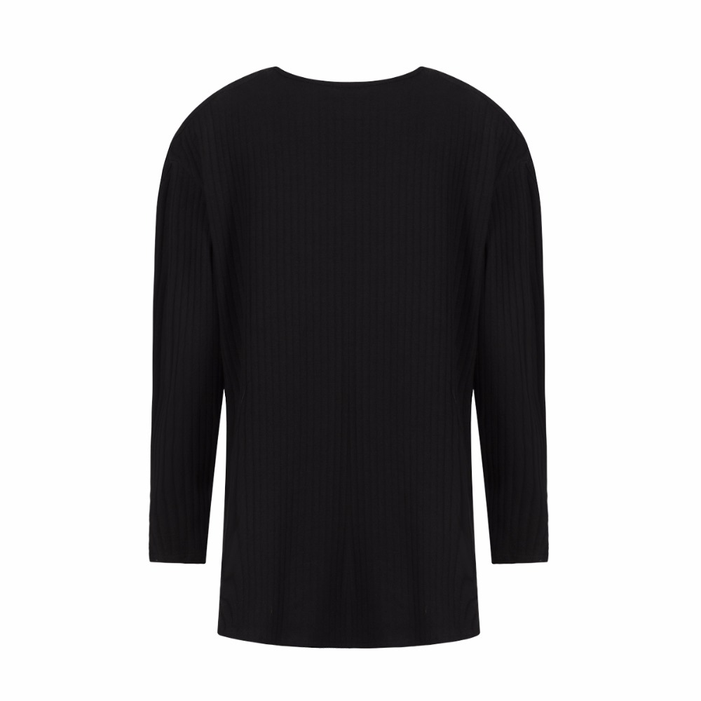 ca77f419c93 Darcydebie Women Plus Size Criss Cross Cold Shoulder Knit Tops Solid Long  Sleeve T shirt Pullovers Stretchy Large Size T Shirts-in T-Shirts from  Women s ...