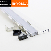 Tinyorda 100Pcs (1M Length) Led Alu Profile  Led Channel Profil for 12mm LED Strip Light Professional ManufacturerTAJ1707