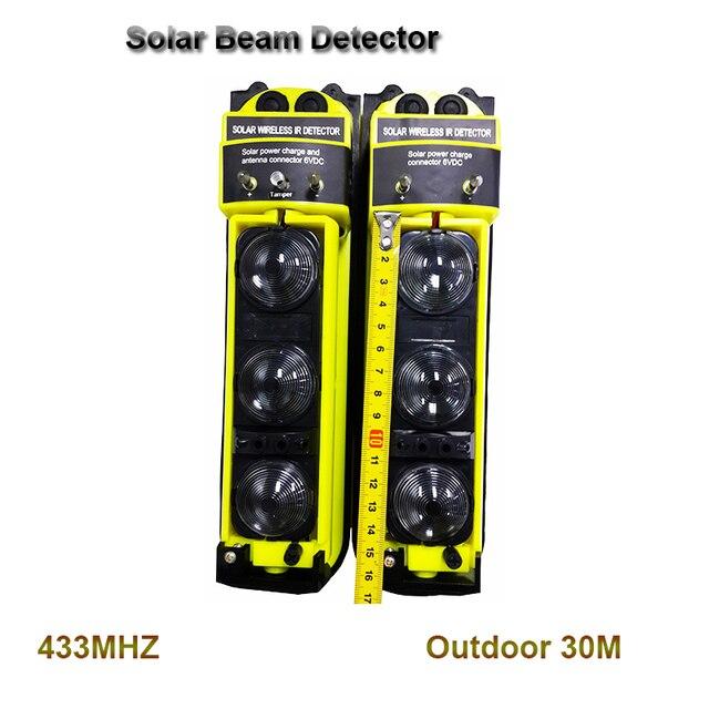Беспроводной Открытый Солнечный PIR водостойкий инфракрасный детектор сигнализации IR Intruder Обнаружение движения домашняя охранная сигнализация