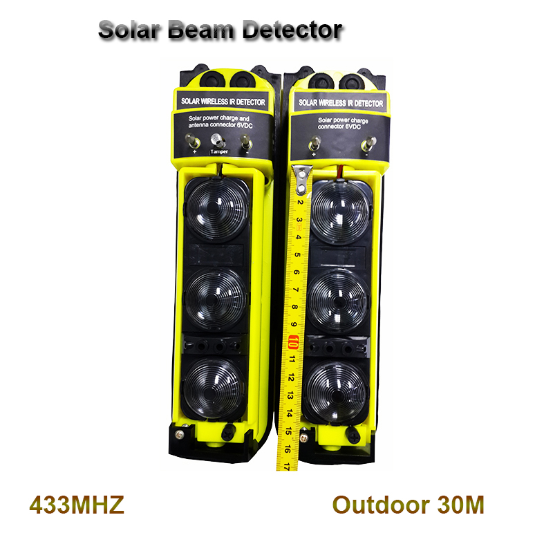 Wireless Outdoor Solar PIR Waterproof Infrared Alarm Detector IR Intruder Motion Detection Home Burglar Alarm