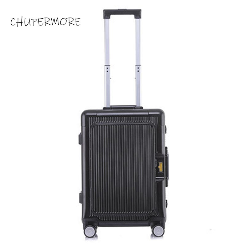 100% all aluminum frame Flip top computer bag essential for boarding travel Rolling Luggage Spinner High capacity brand Suitcase-in Rolling Luggage from Luggage & Bags    2