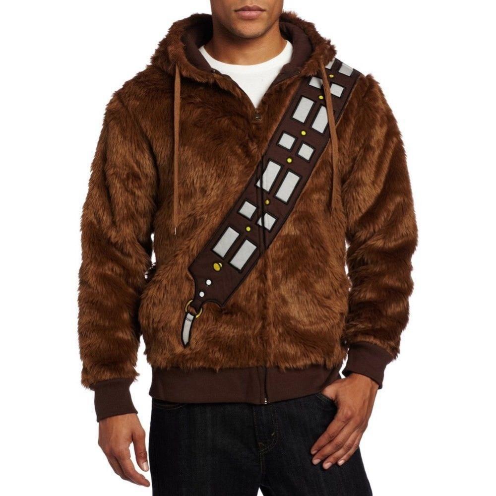 Star Wars Chewbacca Hoodie kostiumo striukė Cosplay - Karnavaliniai kostiumai - Nuotrauka 3
