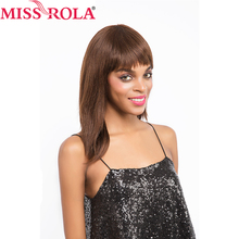 Miss Rola Hair Brazilian Hair #4 Straight 10inch Short Human Hair Wigs for Black Women Whole Manchine Free Shipping