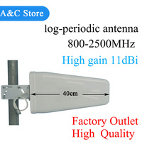 Log periodic antenna 11dBi 800~2500mhz for CDMA/GSM DCS WCDMA 2G 3G 4GLTE cell phone signal booster/repeater/amplifier N female