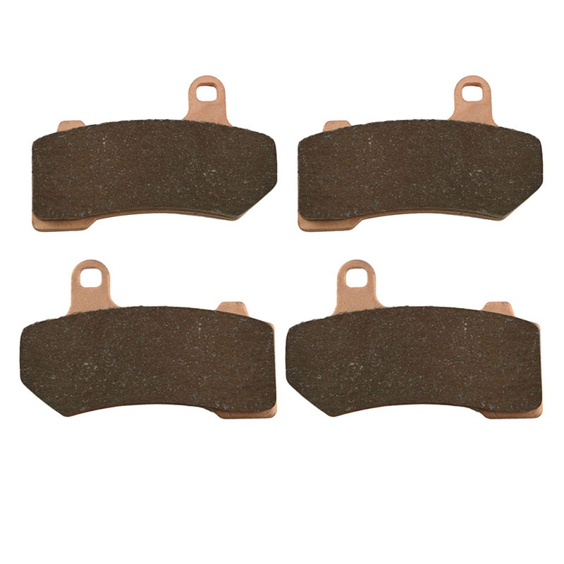 2 Pairs Motorcycle Brake Pads for  HARLEY DAVIDSON FLHXXX Street Glide Trike 2010-2011 Sintered Brake Pad black chrome custom motorcycle skeleton bone mirrors for harley davidson street glide