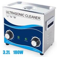 180W ultrasonik temizleyici 3.2L 150W ısıtma su banyosu buji enjektör yakıt yüksek sıcaklık yağ pas donanım Metal