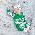 Christmas Deer 2016 Autumn/Winter Baby Girls Romper+Hats Long Sleeve Cotton Jumpsuits For Newborn Bebes Boys Infant Clothes