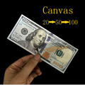 CANVAS(US Dollar version) Magic Tricks Bill Exchange Illusion Props,Accessories