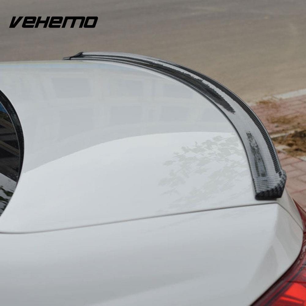 Vehemo Lip Spoiler Carbon Fiber Luxury Creative Car Rear Wing Trunk Spoiler Wing Auto Rear Wing Vehicle Rear Wing Universal