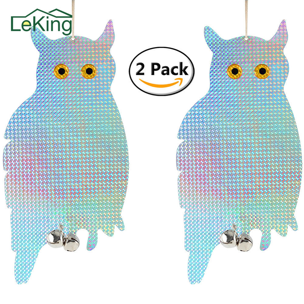2pcs Fake Owl Decoy Scare Birds Holographic Reflective Repel Woodpecker  Garden Hanging Supplies  In Repellents From Home U0026 Garden On Aliexpress.com  ...