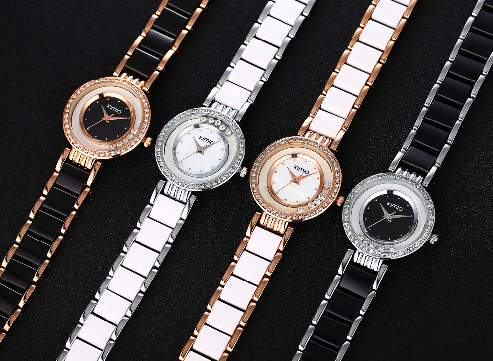 KIMIO Women Watch Fashion Crystal Diamond Rolling Rhinestone - Կանացի ժամացույցներ - Լուսանկար 5