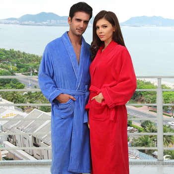 2015Winter hotsell pure cotton velour velvet bathrobes robe Unisex long-sleeve bathrobes thicken plus size home casual sleepwear - DISCOUNT ITEM  34% OFF All Category