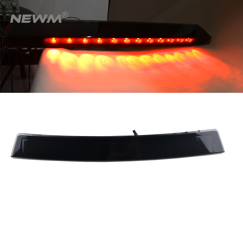 Smoked Black Lens Super Bright 12-LED Third 3rd Brake Light For 1999-2004 Ford <font><b>Mustang</b></font> (Excluding <font><b>2003</b></font>-2004 Cobra) image