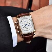 BENYAR Sports Military Men Watches 2019 Top Luxury Brand Man Chronograph Quartz watch Leather Army Male Clock Relogio Masculino