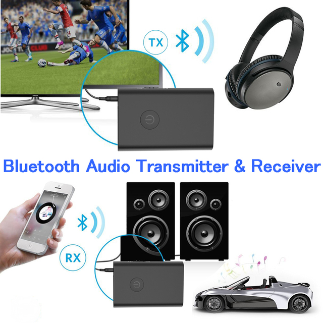 Wireless CSR 4.0 Car Bluetooth Receiver,Bluetooth Audio Receiver and Transmitter(A2DP/Apt-X) with 3.5mm Stereo Output Adapter