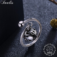 INALIS 100 925 Sterling Silver Hollow Bead Rings 2018 Valentine S Day Gift For Women Sterling