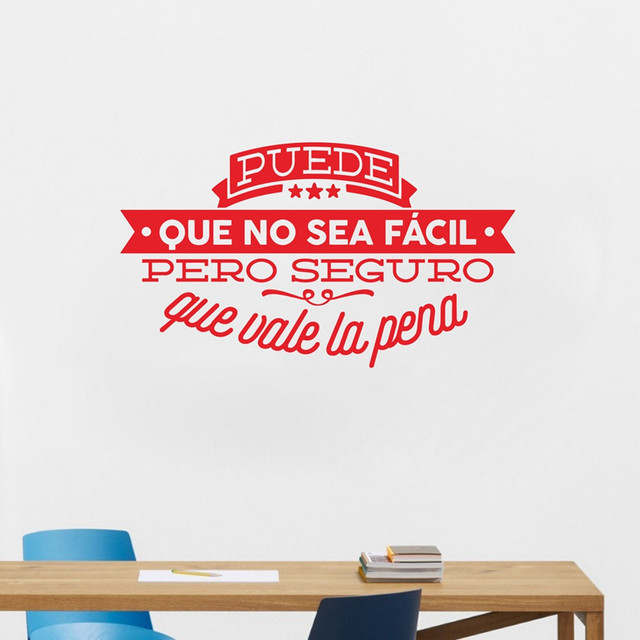Decorative Viny Wall Stickers Spanish Famous Quote Inspiring Phrase ...