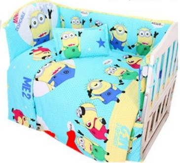 Promotion! 9PCS Full Set Crib Cot Bedding piece Set bed linen 100% Cotton crib set baby bedding set,4bumper/sheet/pillow/duvet спот arte lamp cono a5218ap 1br