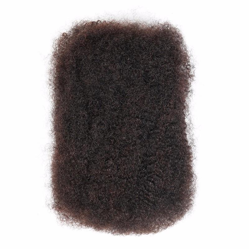 Sleek 3pcslot Tight Afro Kinky Bulk Hair 100% Human Hair For Dreadlocks, Indian Hair Kinky Twist hair in Bulk Natural Color  (5)