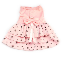 Black Star Pattern Summer Princess Dress for Dogs