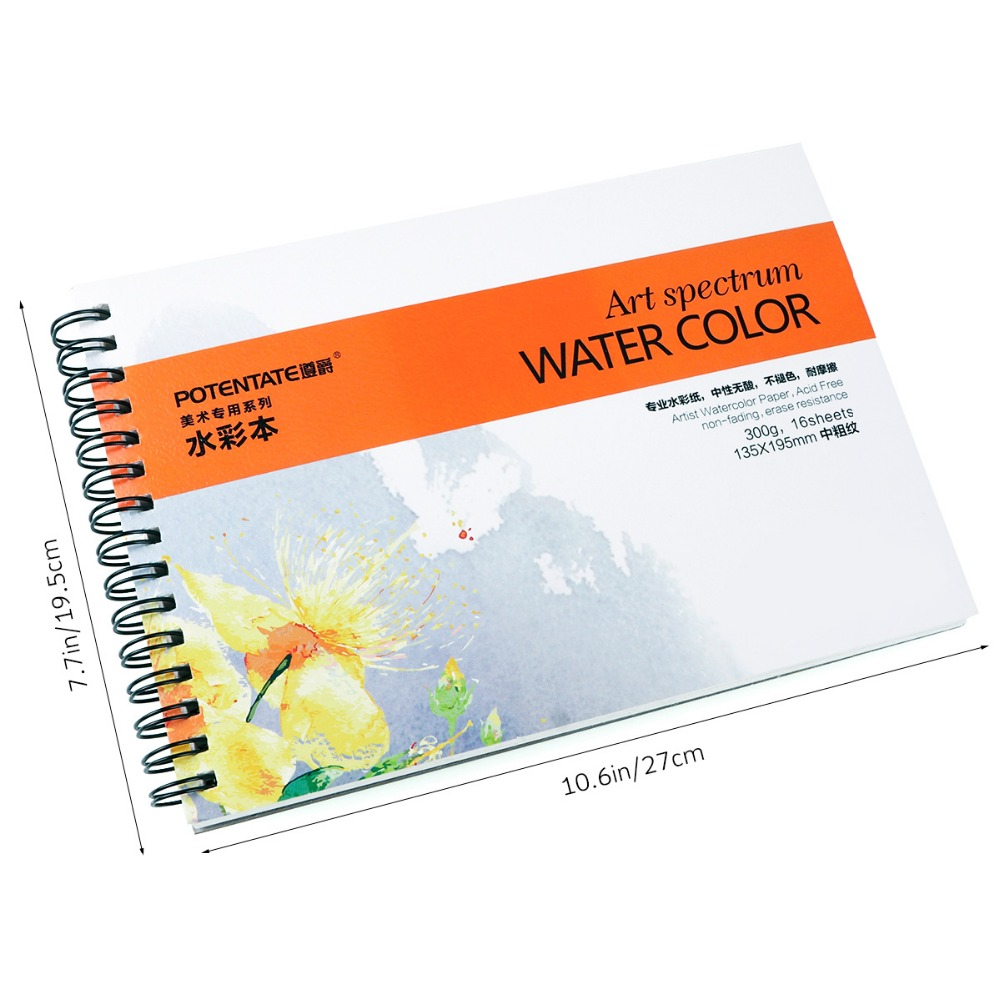 POTENTATE A4 16sheets 300g Artist watercolor paper Sketch Book For ...