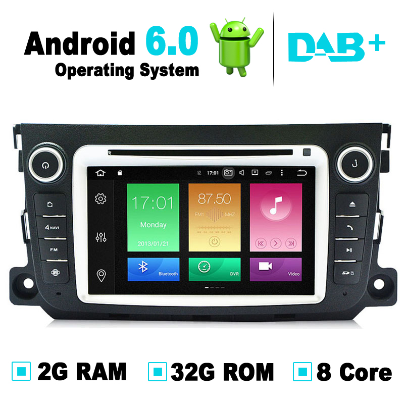 8 Core 2G RAM 32G ROM Android 6 0 Car DVD GPS Navigation System Radio Media