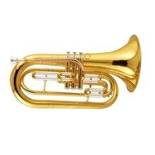 Bb Marching баритон Рог Музыкальные инструменты желтый латунь баритон с Foambody чехол