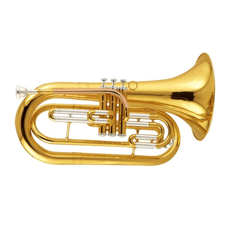 Bb Marching Baritone Horn musical instruments Yellow brass baritone with Foambody case