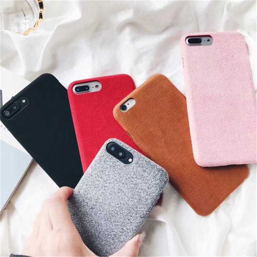 Soft Plush Phone Cases For Apple iPhone 8 7 6 6S Plus Coque For iPhone X XR XS Max Winter Warm Fur Furry Cover Shell Gift Fundas05