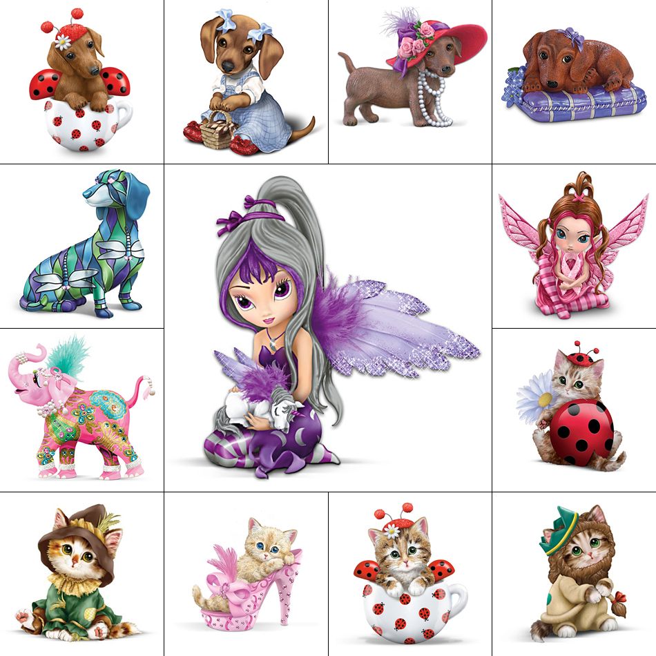 5D Diy Diamantmaleri Cross Stitch Animal Diamond Broderi Cat Dog Elephant Fairy Full Diamond Mosaic Pictures Needlework