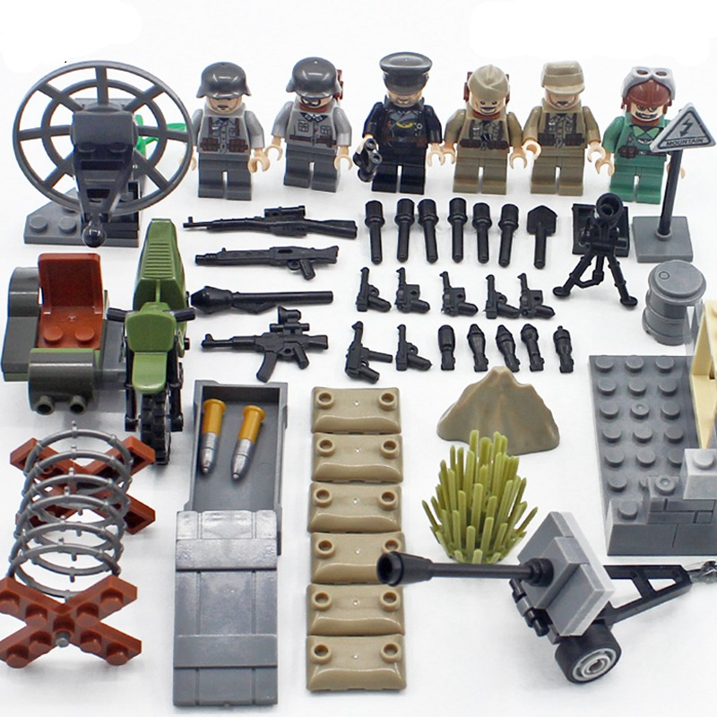 Blocks Special Forces Military Swat Army Weapon Soldier Marine Corps Building Blocks Figures Toy Children Gift Compatible With Legoe