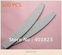 Оптовая продажа, пилка для ногтей 500 шт./лот 100 180, серая наждачная бумага, пилка для ногтевого дизайна 100/100, инструменты для маникюрного салона, # SC0721 01