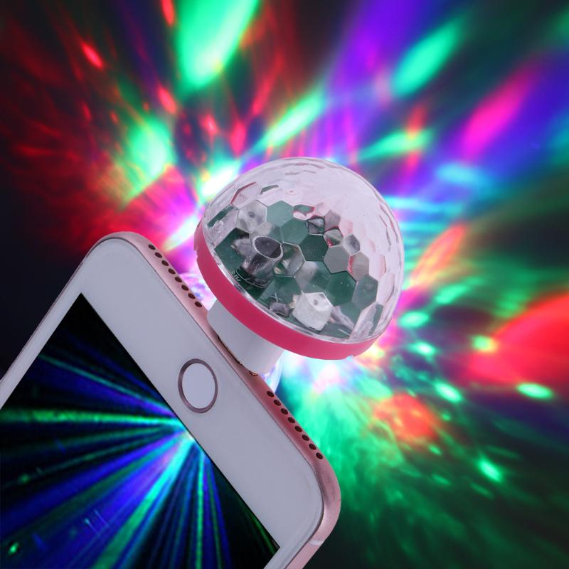 USB Disco Light Music Lights Color Change with Music DJ Light Stage Party Stroboscope Lighting at Home ...