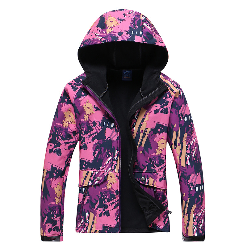 Autumn and winter outdoor Camouflage soft shell Catch fleece Cardigan Keep warm Slim Female Climbing jacket Jackets new brand men soft shell clothing warm polar fleece outdoor fishing cardigan jacket autumn winter man fishing shirt coat red