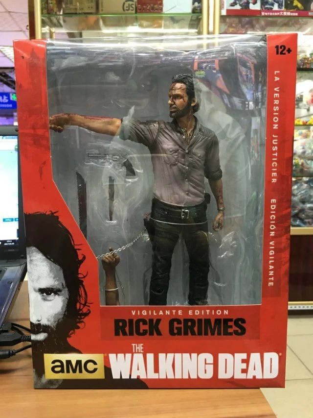 The Walking Dead Rick Grimes PVC Action Figure Collectible Model Toy 10 25cm 10inch neca the evil dead ash vs evil dead ash williams eligos pvc action figure collectible model toy 18cm kt3427