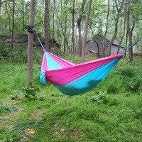 100pcs Lot Portable Double Person Parachute Hamak Clamping Garden Furniture Hangmat Hommock 260 140CM Max Load
