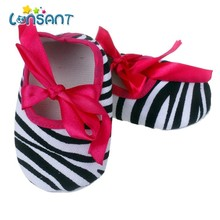LONSANT New Retail Fashion Striped Black Tenis infantil Menina Kids Baby Bowknot Stripe Printing Newborn Cloth Shoes E1120(China)
