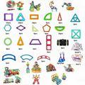 190pcs/Lot Magnetic Designer Construction Building Block Toy Plastic Magnet Model Blocks Educational Toy 3D DIY For Kids Gift