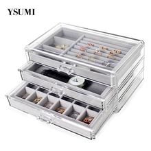 YSUMI Jewelry Tray With Storage Box Organizer Ring Earring Necklace Case Women Necklace Pendants Tray Jewelry Display Stand Box цены онлайн