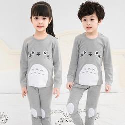 Winter Children Clothes Kids Clothing Set Boys Pajamas Sets Totoro Styling Nightwear Print Pajamas Girls Sleepwear Baby Pyjama