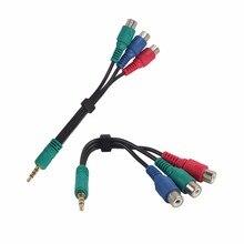 Аудиокабель с разъемом AUX 3,5 мм на 3 RCA «мама», зеленый, синий, красный адаптер YPbPr RCA