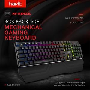 Image 2 - HAVIT Mechanical Keyboard 87/104 keys Blue or Red Switch Gaming Keyboards for Tablet Desktop Russian/US sticker