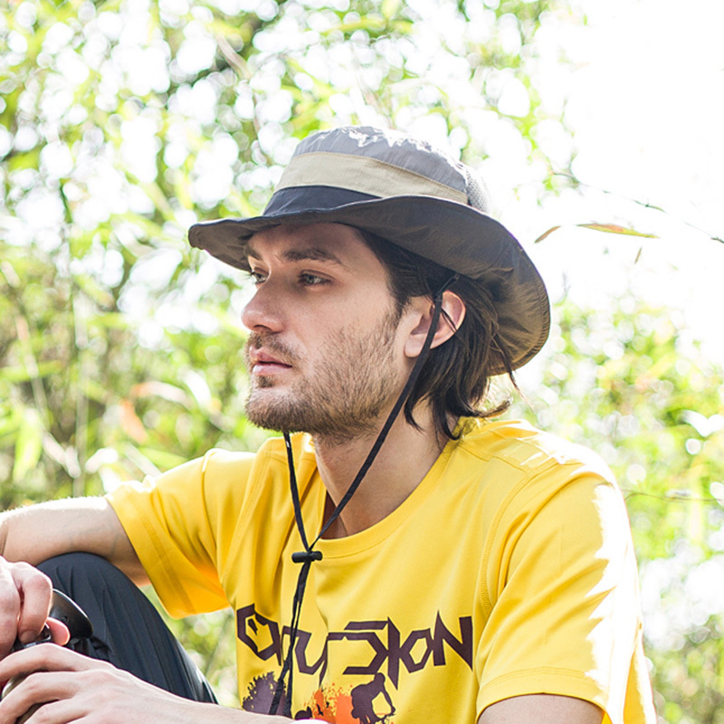 df27d8a0436c8 2015 New Men s Bucket Hats Outdoor Fishing Hiking Boonie Snap Brim Sun Hat  Casual Fashion Summer Caps Best Quality-in Bucket Hats from Apparel  Accessories ...