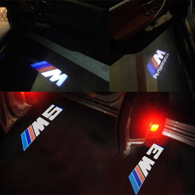 Car door light M performance logo led For BMW E90 E60 F30 F10 F15 E63 E64 E65 E86 E89 E85 E91 E92 E93 F02 M5 E61 F01 GT M3 M4