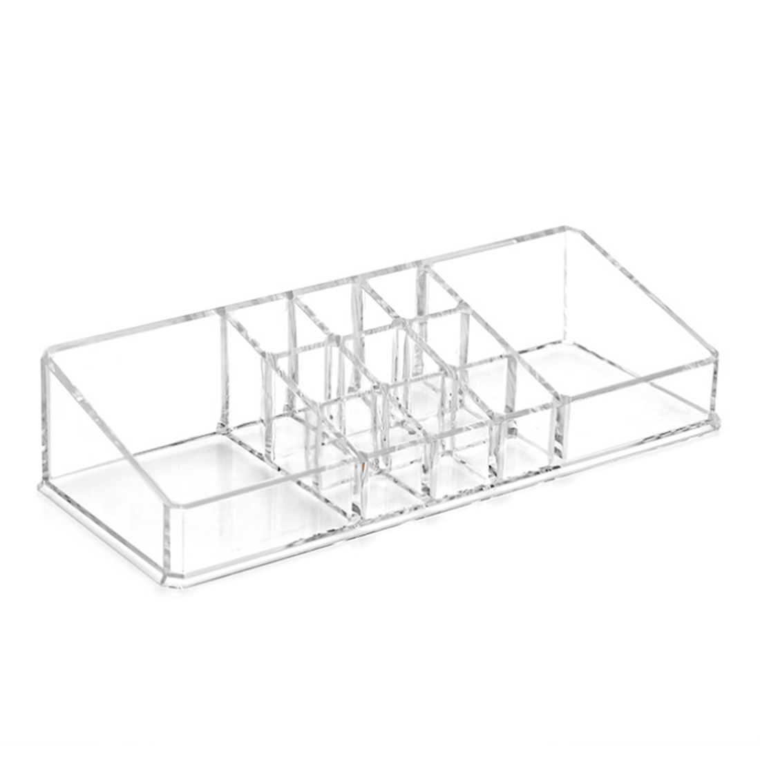 Top 1PC Acrylic Lipstick Holder Display Stand Clear Makeup Organizer Storage Box Jewelry Container Organizer Cosmetics Storage new arrival acrylic makeup brush holder organizer cosmetics makeup brushes showing rack air drying display stand storage shelf