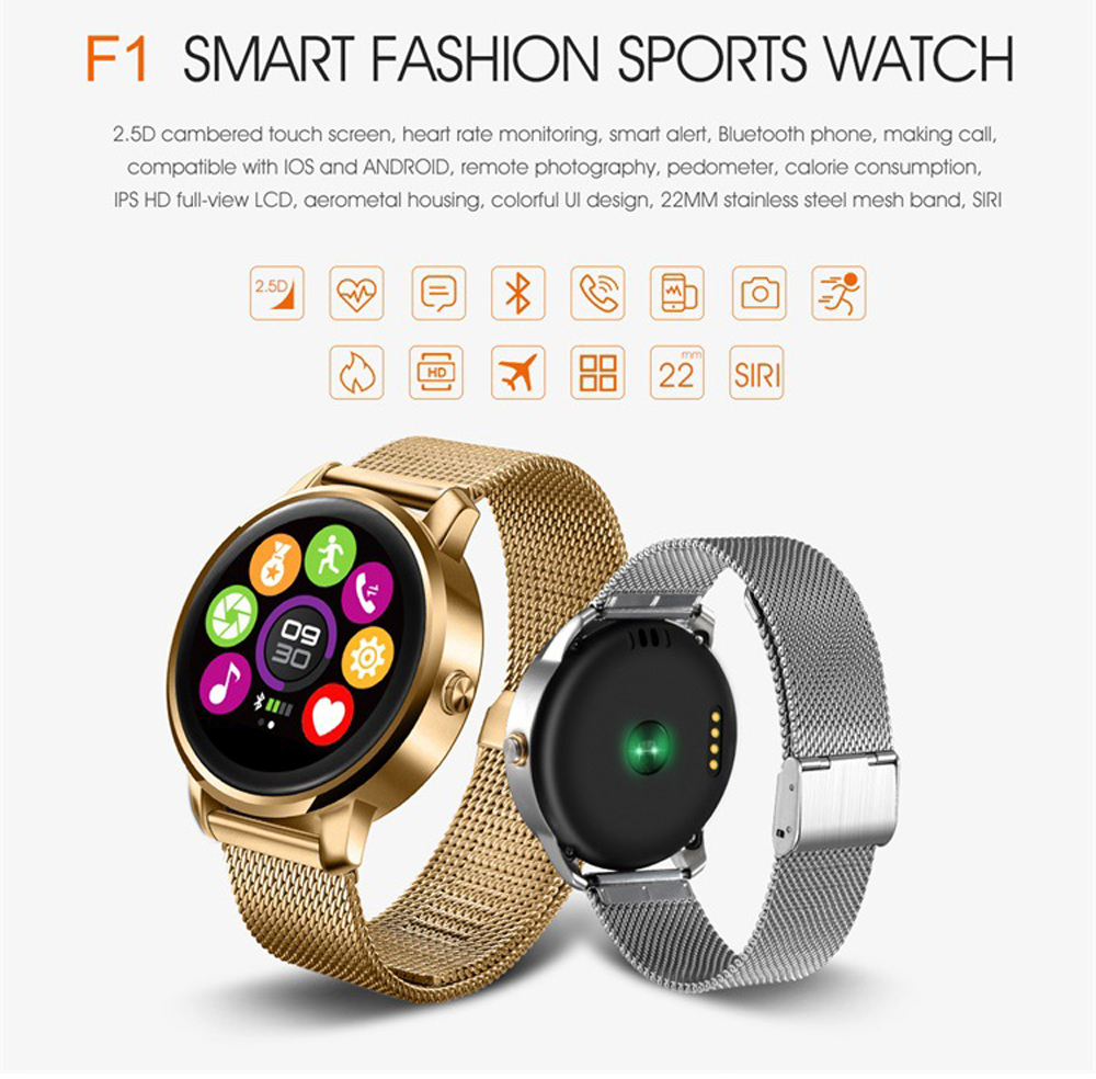 Round Bluetooth Smart Watch Classic Health Metal Smartwatch with Heart Rate Monitor for Android IOS Phone Remote Camera Clok mu2 unisex bluetooth wrist watch health sleep monitor for android ios