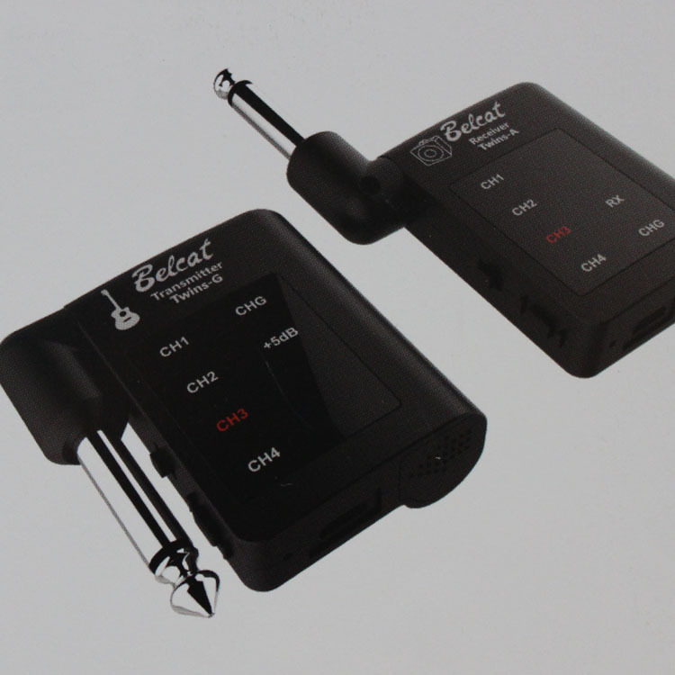Free shipping Belact TWINS Guitar wireless transmitter receiver system Bass guitar electric guitar pickups instrument accessory
