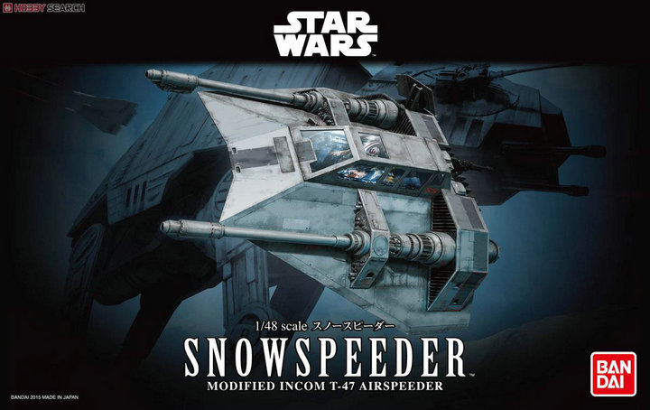 2015 New Genuine Bandai 1:48 Scale Star Wars Snow Speeder modified incom t-47 airspeeder Plastic Model Building Kits DIY Toys 2015 new genuine bandai 1 48 scale star wars snow speeder modified incom t 47 airspeeder plastic model building kits diy toys
